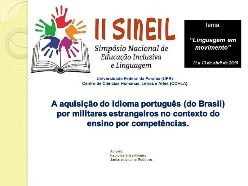 A aquisição do idioma português (do Brasil) por militares estrangeiros