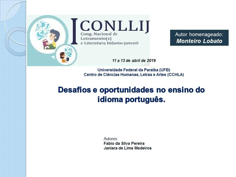 Desafios e oportunidades no ensino do idioma português